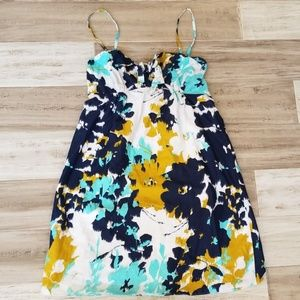 DKNY Absract Floral Tie Front Sundress